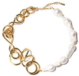 COMPLETEDWORKS Whos In Charge? Pearl And Gold-vermeil Necklace - Pearl