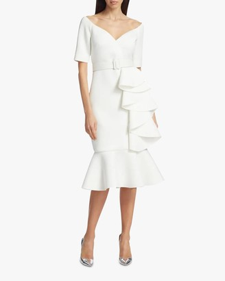 Badgley Mischka Ruffled Cocktail Dress