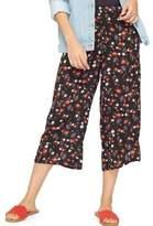 Miss Selfridge Floral Wide-Leg Cropped Pants
