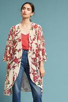Anthropologie Velvet Cherry Blossom Kimono