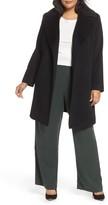 Fleurette Plus Size Women's Wool Wrap Coat