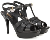 Saint Laurent Classic Tribute 75 leather plateau sandals