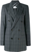 Maison Margiela checked double breasted jacket - women - Viscose/Wool - 40