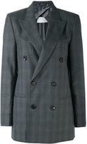 Maison Margiela checked double breasted jacket - women - Viscose/Wool - 44