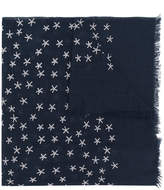Closed star embroidered scarf