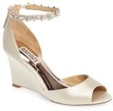 Badgley Mischka Women's Tahlia Crystal Ankle Strap Sandal