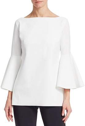 Chiara Boni Natty Bell-Sleeve Top