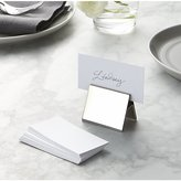Crate & Barrel Set of 20 White Place Cards