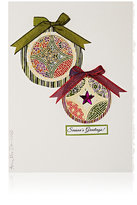 "Constance Kay ""Season's Greetings!"" Star Ornament Card-WHITE, NO COLOR"