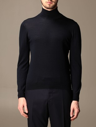 Tagliatore Turtleneck In Wool And Silk