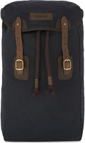 Barbour Waxed leather and canvas backpack