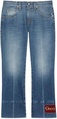 Gucci Stonewashed denim trousers