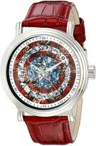 Marvel Men's W002544 Captain America Analog Display Analog Quartz Red Watch