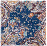 Etro paisley print embellished scarf