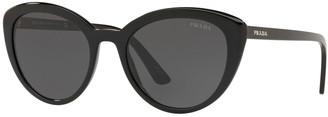 Prada Semi-Transparent Acetate Cat-Eye Sunglasses