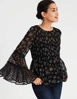 American Eagle Outfitters AE Chiffon Smocked Tunic