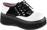 Demonia Women's Emily 303 Saddle Shoe