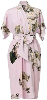 Castlebird Rose Short Wrap Dress Pastel Pink