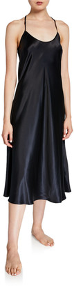 Neiman Marcus Long Silk Nightgown
