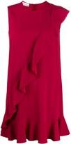RED Valentino ruffle detail shift dress