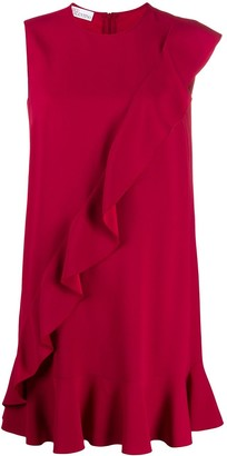RED Valentino Ruffle Detail Shift Dress