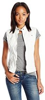 G Star Women's Midge Dumont Sleeveless Jacket White Talc Super Stretch 3D