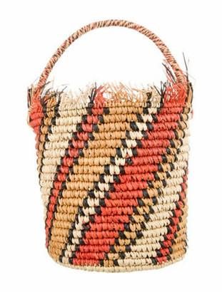 Sensi Straw Bucket Bag Orange