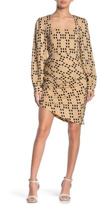 Emory Park Square Neck Polka Dot Shirred Dress
