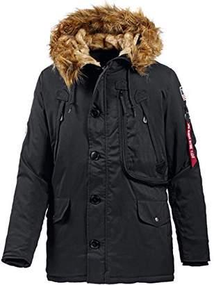 Alpha Industries Men's Polar Jacket Parka, Black, XXL