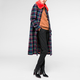 Paul Smith Women's Multi-Colour Check Coat With Removable Shearling Collar