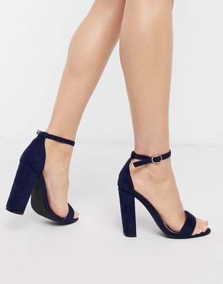Glamorous barely there heels in navy