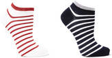 Falke Set Of Two Striped Cotton-blend Socks - Navy