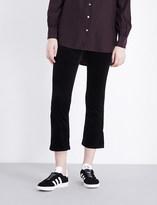 AG Jeans Jodi slim-fit flared velvet jeans
