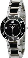 Paris Hilton Women's 138.5167.60 Logo black stainless steel Band Watch.