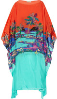 Emilio Pucci Printed Silk Kaftan - Light blue