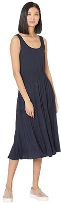 Vince Pleated Scoop Neck Tank Dress (Coastal) Women's Dress