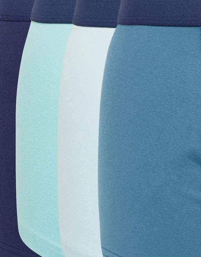 Asos Trunks In Blue 7 Pack