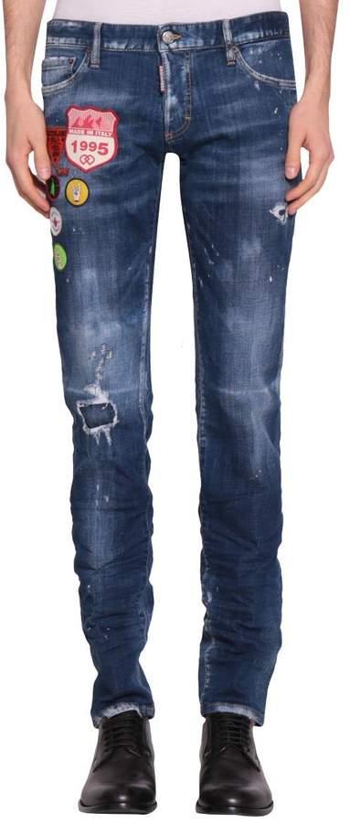 DSQUARED2 Slim Cotton Denim Jeans