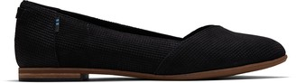 Toms Black Suede Women's Perforated Julie Flats