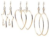 Charlotte Russe Shaped Hoop Earrings - 3 Pack