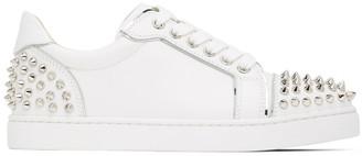 Christian Louboutin White Vierissima Spikes Sneakers