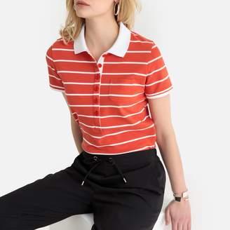 Anne Weyburn Cotton Pique Striped Polo Shirt
