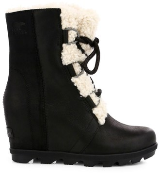 Sorel Joan of Arctic Shearling-Trim Wedge II Boots