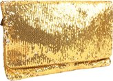 Two-Tone Sequin Clutch
