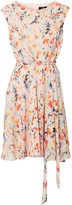 Wallis Pink Watercolour Leaf Print Dress