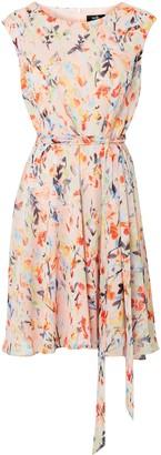 Wallis Pink Watercolour Leaf Print Dress
