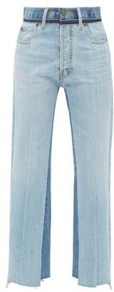 Maison Margiela Raw-hem Panelled Straight-leg Jeans - Denim