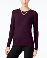 Charter Club Petite Cashmere Crew-Neck Sweater, Only at Macy's