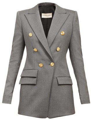 Alexandre Vauthier Double-breasted Wool-blend Jacket - Dark Grey