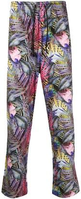 White Mountaineering Palm Print Pyjama-Style Trousers